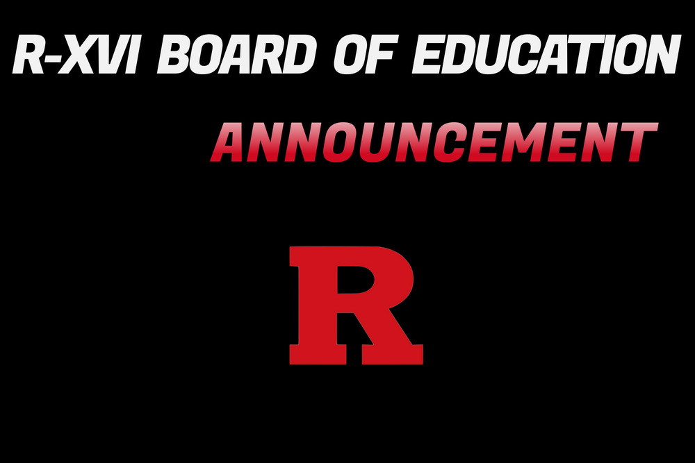 R-XVI Board of Education Announcement