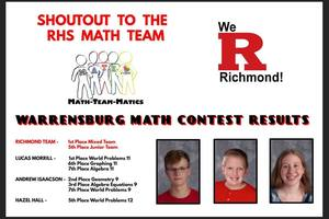 Results from the Warrensburg Math Contest