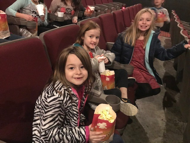 Sunrise students at the movies.